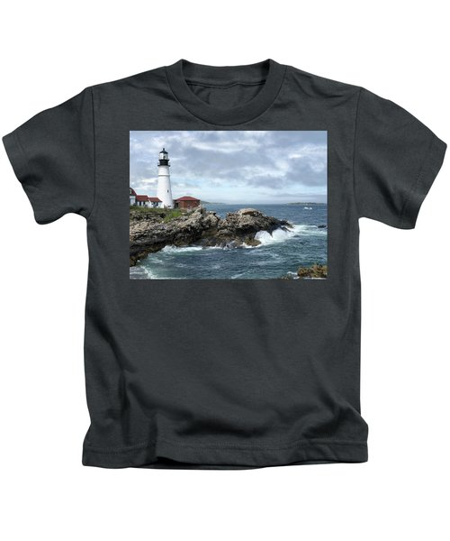 Portland Head Light House Kids T-Shirt
