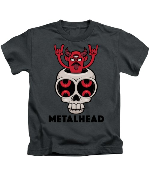 Possessed Skull Metalhead Kids T-Shirt