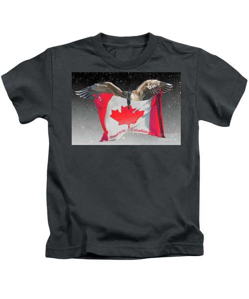 Proud To Be Canadian Kids T-Shirt