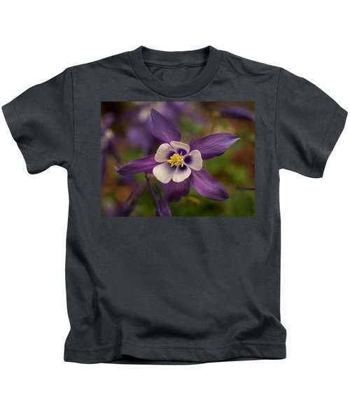 Purple Columbine Kids T-Shirt