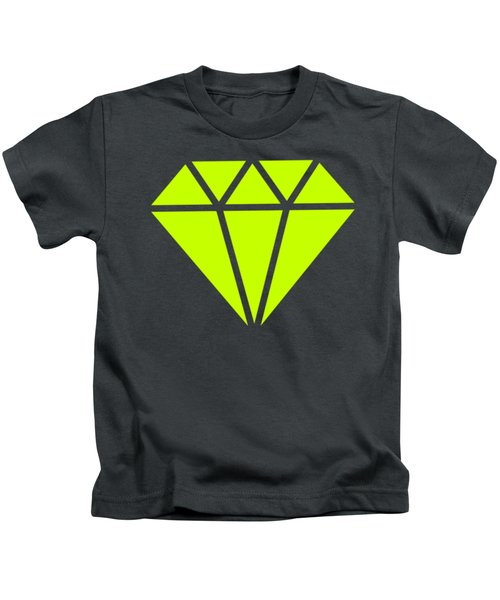 Purple Diamond Yellow Kids T-Shirt