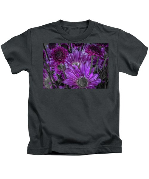 Purple Power Chrysanthem Selective Colorum  Kids T-Shirt