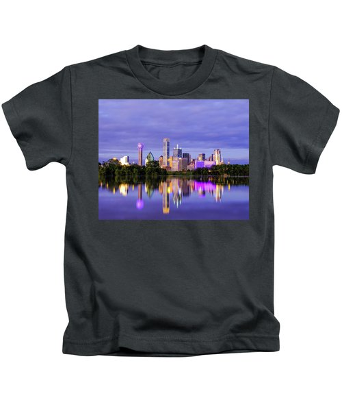 Purple Rain City Of Dallas Texas Kids T-Shirt