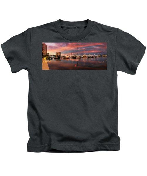 Quiet Evening On The Marina Kids T-Shirt