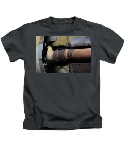 Radial Engine Exhaust Kids T-Shirt