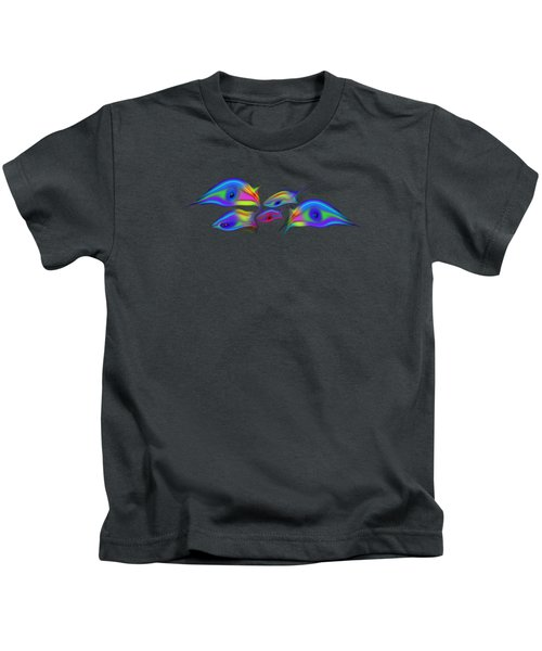 Rainbow Blue Fish Kids T-Shirt