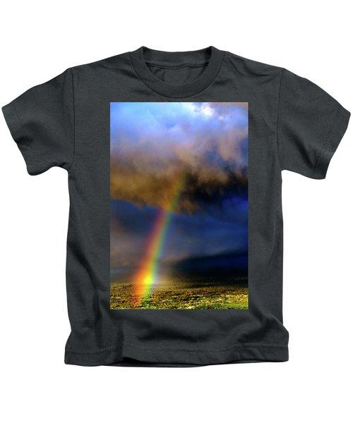 Rainbow During Sunset Kids T-Shirt