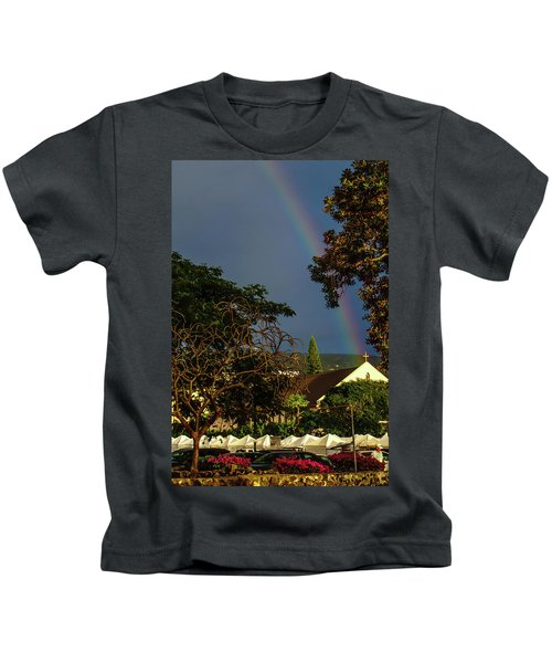 Rainbow Ended At The Church Kids T-Shirt