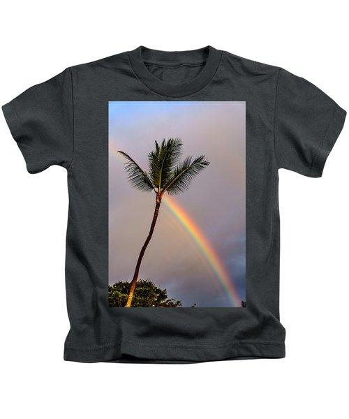 Rainbow Just Before Sunset Kids T-Shirt