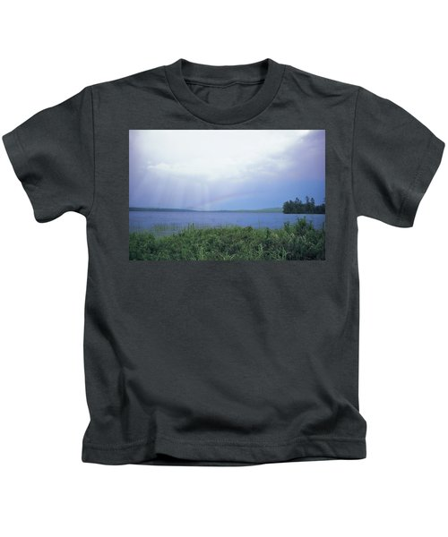 Rainbow Over Raquette Lake Kids T-Shirt