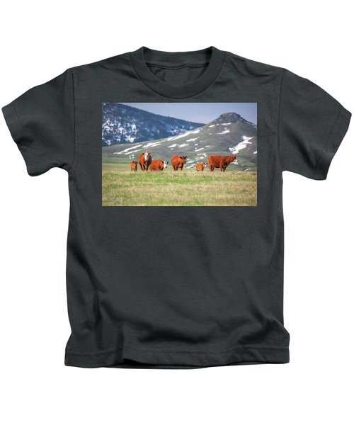 Red Angus Herd Kids T-Shirt