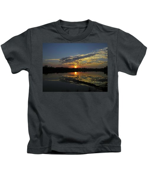 Reflections Of The Passing Day Kids T-Shirt