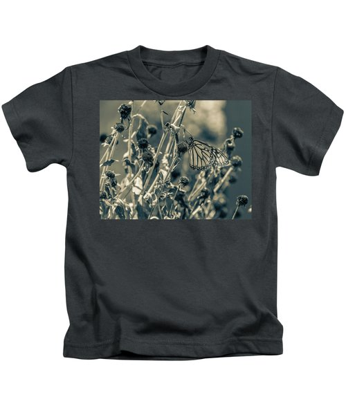 Resting Butterfly Bw Kids T-Shirt