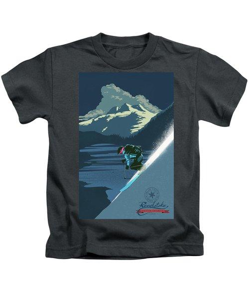 Retro Revelstoke Ski Poster Kids T-Shirt