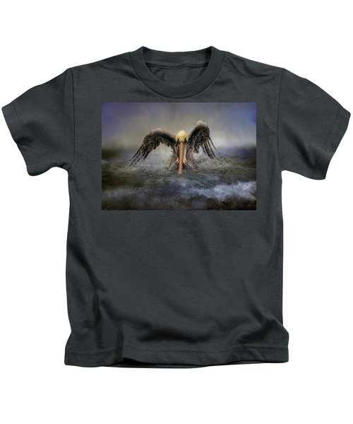 Riding The Storm Out Kids T-Shirt