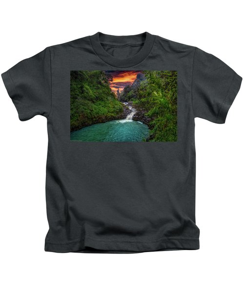 Road To Hana, Hi Kids T-Shirt