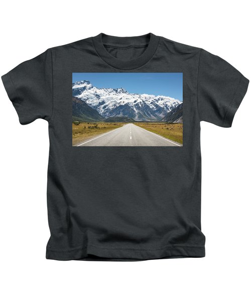 Road Trip In The Southern Alps Kids T-Shirt