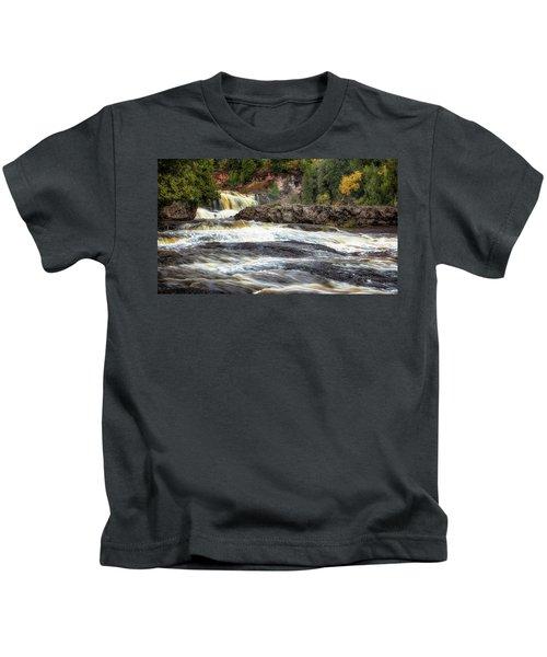 Roaring Gooseberry Falls Kids T-Shirt