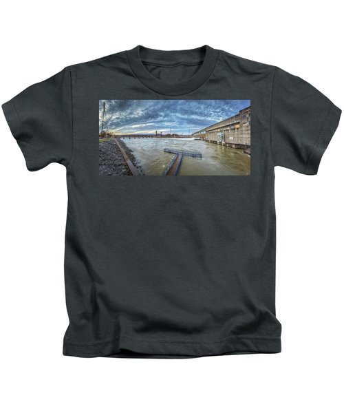 Roaring River Below Chickamauga Dam Kids T-Shirt