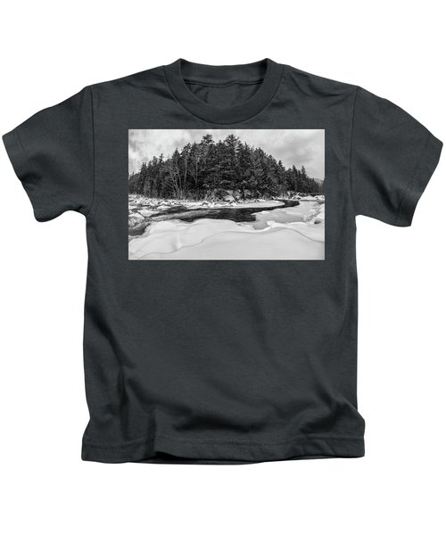 Rocky Gorge N H, River Bend 1 Kids T-Shirt