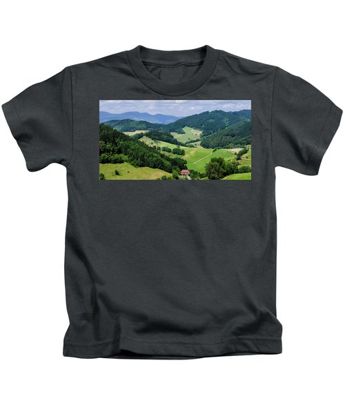 Rolling Hills Of The Black Forest Kids T-Shirt