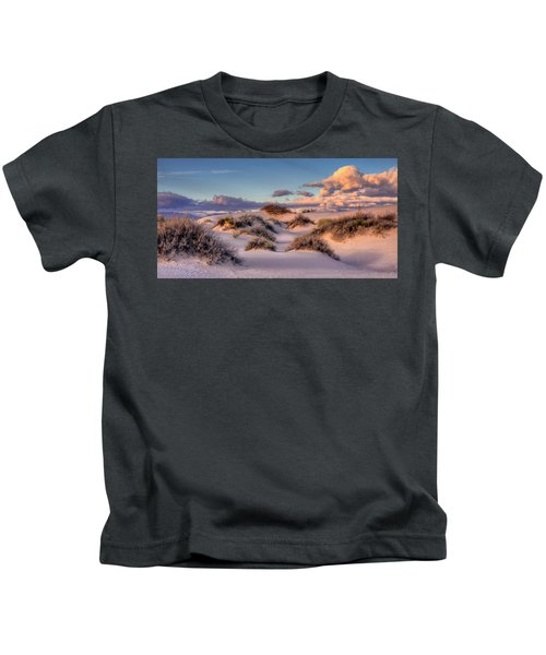 Rolling White Sands  Kids T-Shirt