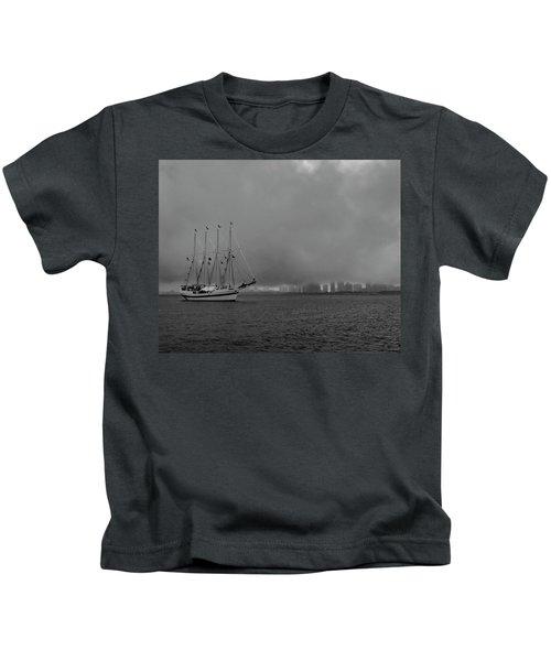 Sail In The Fog Kids T-Shirt