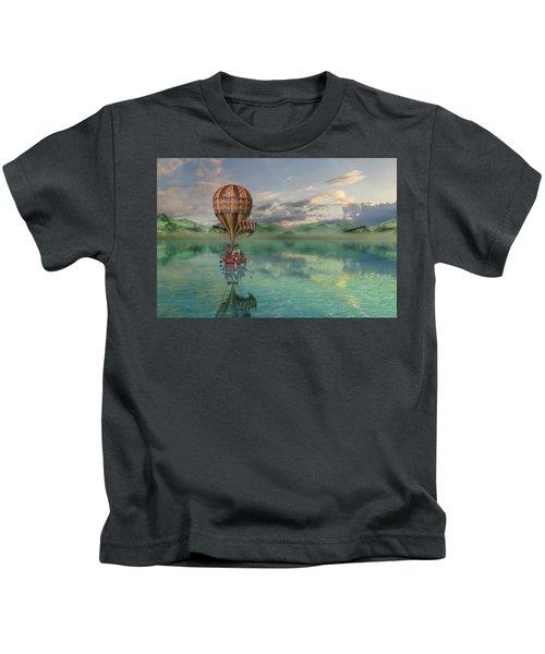 Sailing Away Daydream Steampunk Kids T-Shirt