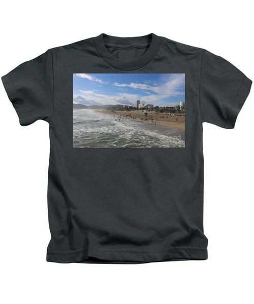 Santa Monica Beach , Santa Monica, California Kids T-Shirt