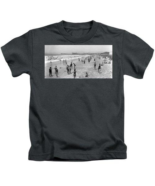 Santa Monica Beach Circa 1920 Kids T-Shirt