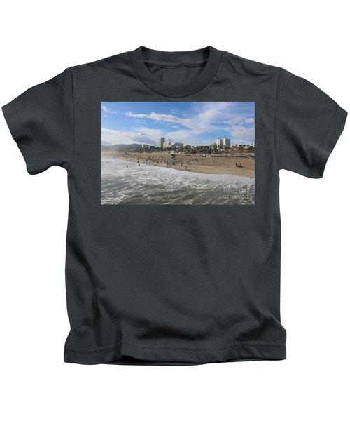 Santa Monica Beach, Santa Monica, California Kids T-Shirt