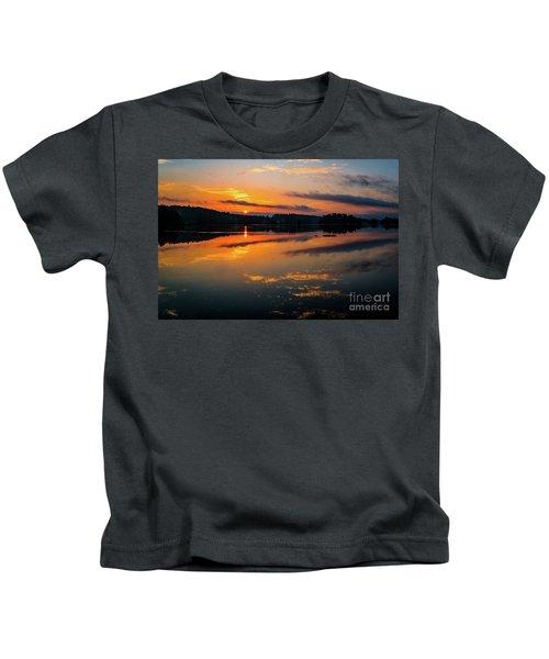 Savannah River Sunrise - Augusta Ga 2 Kids T-Shirt