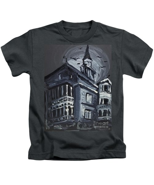 Scary Old House Kids T-Shirt