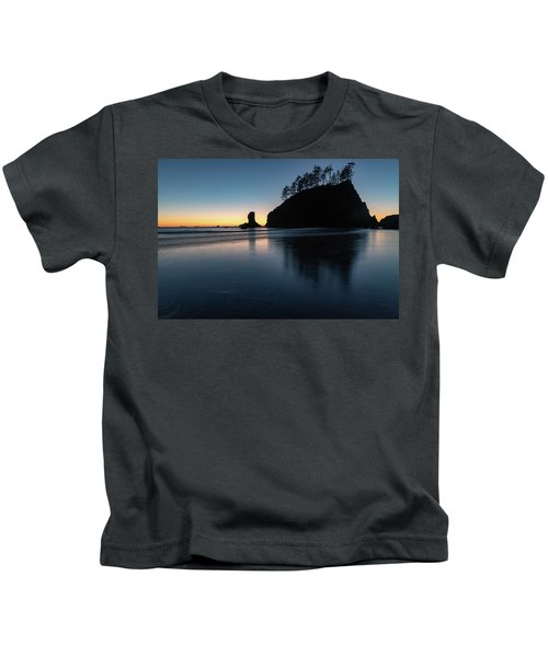 Sea Stack Silhouette Kids T-Shirt