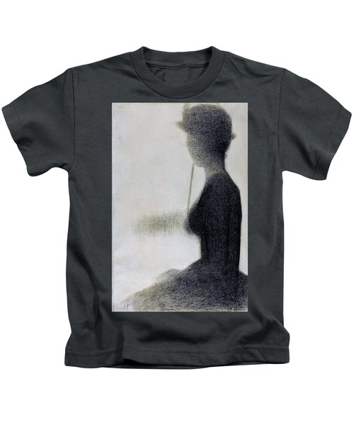 Seated Woman With A Parasol - Digital Remastered Edition Kids T-Shirt