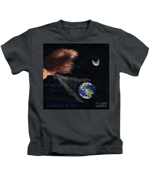 Sending You My Love Kids T-Shirt