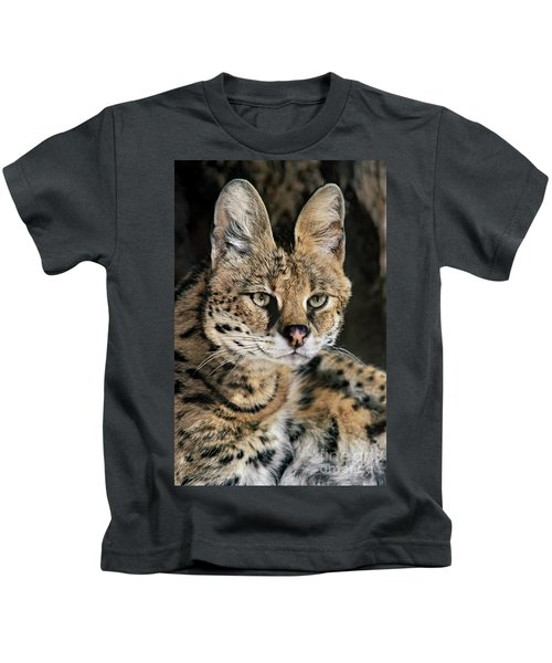 Serval Portrait Wildlife Rescue Kids T-Shirt