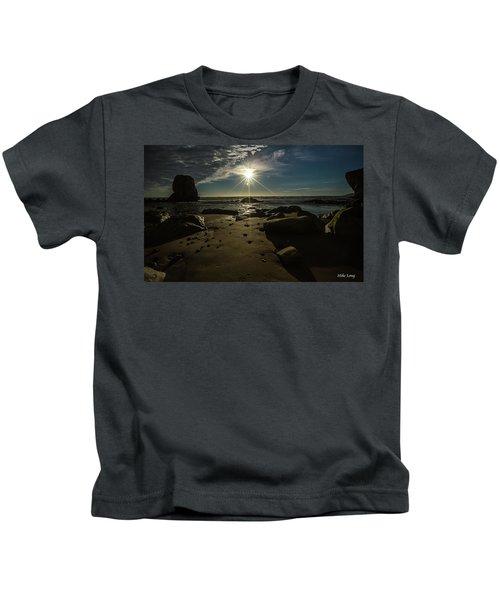 Shell Beach Sunburst Kids T-Shirt