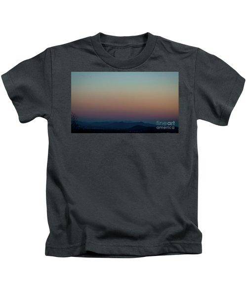 Sherbert Sunset Over The Blue Ridge Mountains Kids T-Shirt