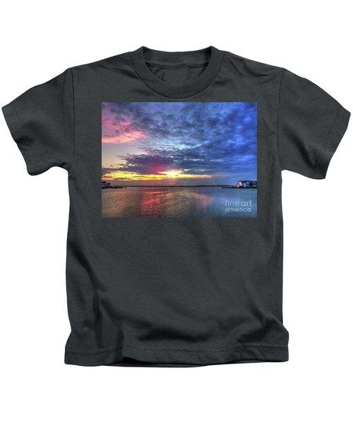 Ship Bottom Sunset Kids T-Shirt