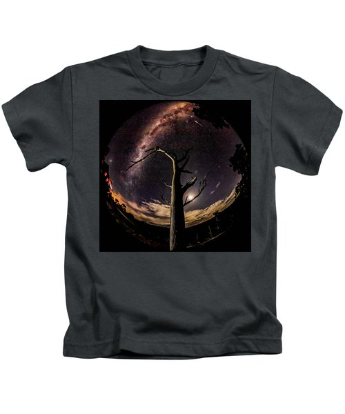 Shooting Stars And Milky Way Kids T-Shirt