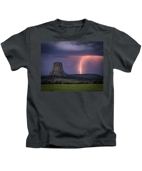 Showers And Lightning Kids T-Shirt