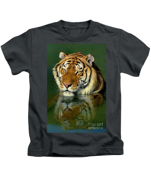 Siberian Tiger Reflection Wildlife Rescue Kids T-Shirt