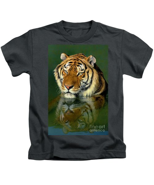 Siberian Tiger Reflection Wildlife Rescue Kids T-Shirt