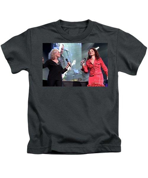 Carole King And Gloria Estefan Kids T-Shirt