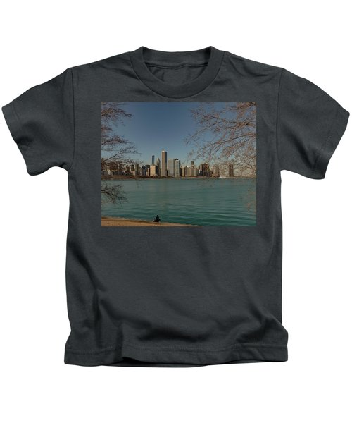 Sitting On A Summer Day Kids T-Shirt
