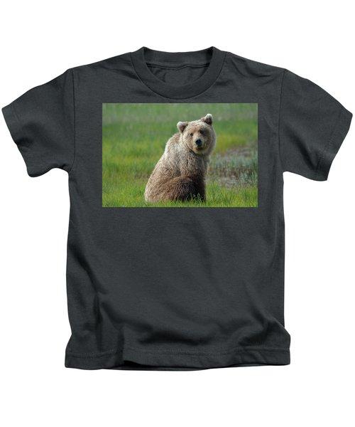 Sitting Peacefully Kids T-Shirt