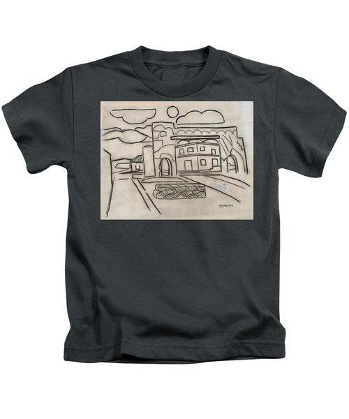 Sketch Of Arch Laguna Del Sol Kids T-Shirt