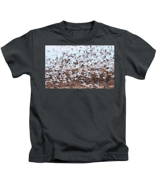 Snow Geese Chaos Kids T-Shirt