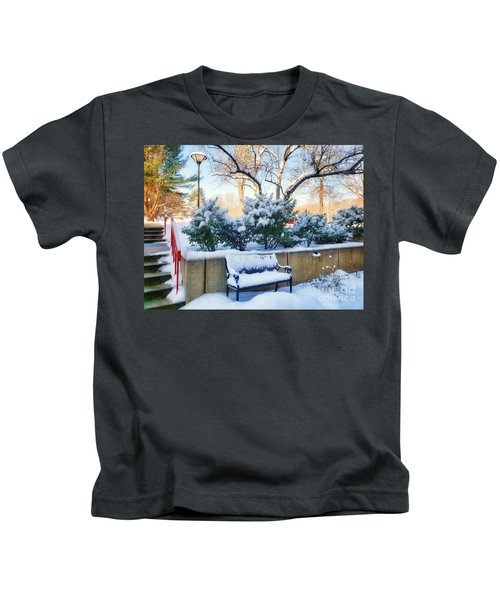 Snowy Bench Kids T-Shirt